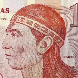 Honduras 1 Lempira 2008 banknote front (2), featuring portrait of Lempira