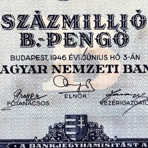 Hungary 100000000000000000000 Pengo 1946 Banknote front (2)