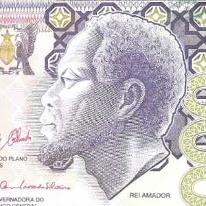 Sao Tome and Principe 5000 Dobra 2013 banknote front (2) featuring Rei Amador