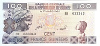 Guinea 100 Franc 1960 banknote front (2)