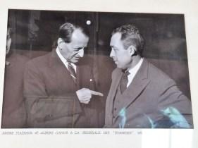 Andre Malraux (left) and Albert Camus 1959.