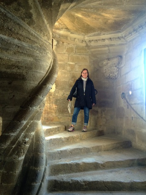Anne Burns at Chateaux de Lourmarin, France.