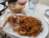 Paella with lobster at the Restaurant de Port de Valldemossa