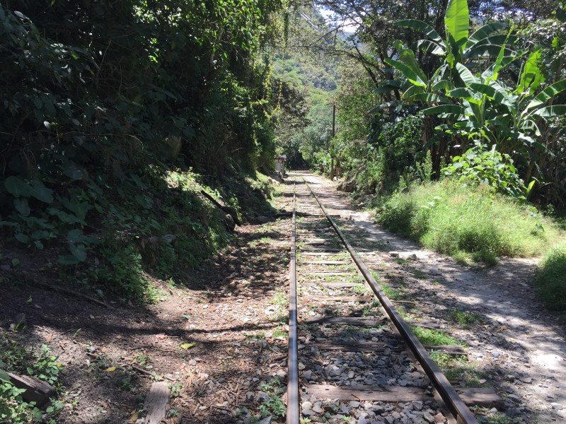 Aguas Calientes train track