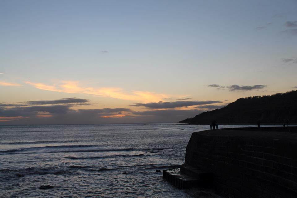cobb at sunset lyme regis