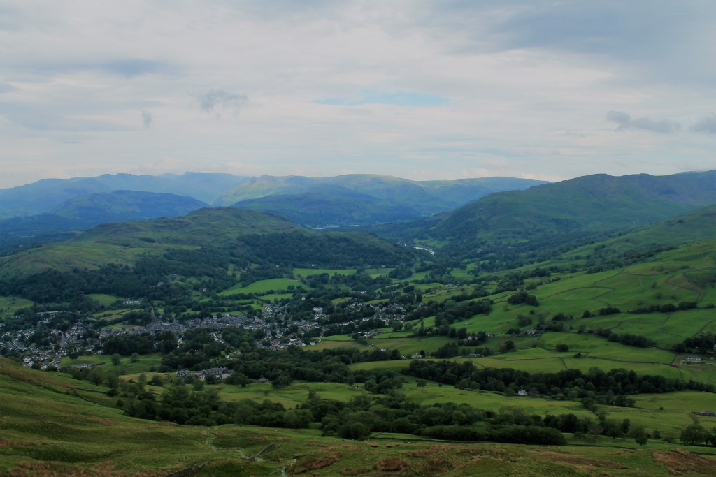ambleside view from wansfell