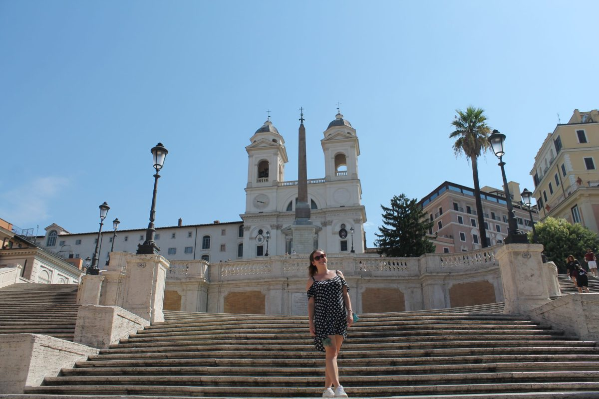 girl on spanish steps, rome