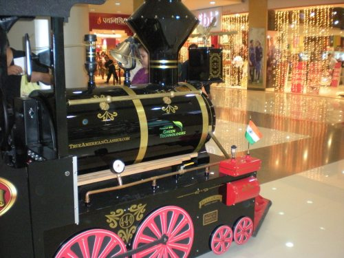 A train in the mall, my son was in heaven