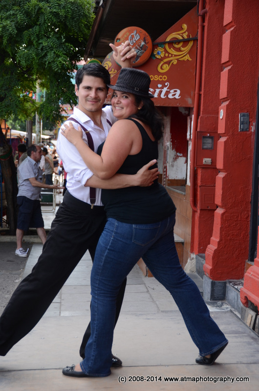 Yes  I did a cheesy tourist tango shot.  But look at him, can you blame me?
