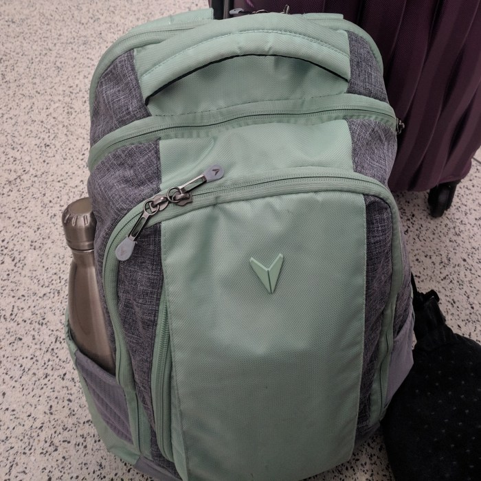BONDKA Journey Backpack in teal and gray
