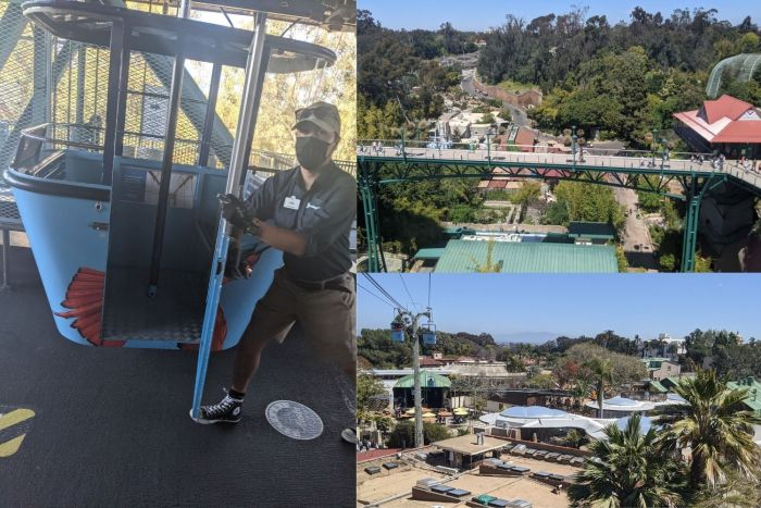 Arial views of the San Diego Zoo from the Skyfari Aerial Tram