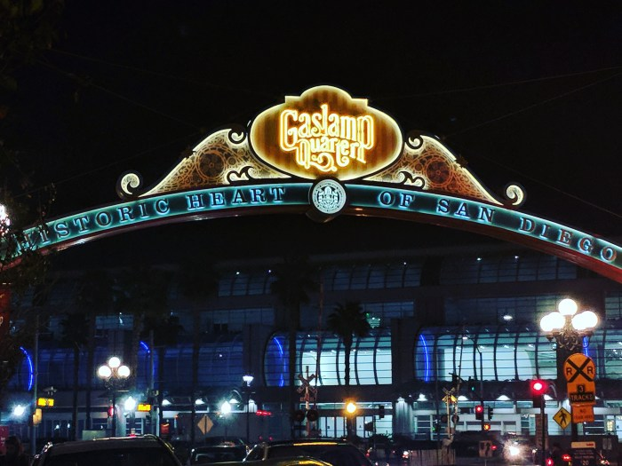 The historic Gaslamp Quarter sign in San Diego