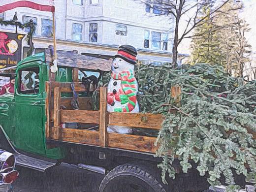 Frosty in Vintage Pickup