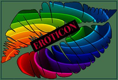 Eroticon colourful lips logo.