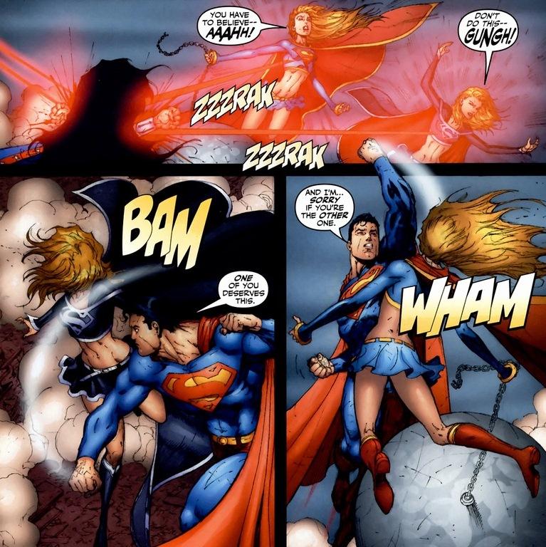 supergirl fights luthor jla