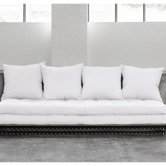 Sofa Bed Covers Leather Houston Tx Tatami Futon Set Of In Pure Cotton Special Offer 20 Off White