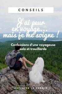 voyageuse solo peur au féminin blog arpenter le chemin canada roadtrip