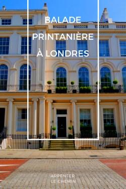 Promenade printemps Londres blog voyage Arpenter le chemin