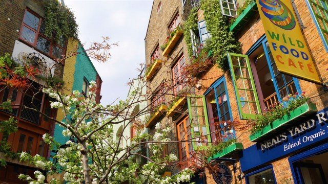 Neal's Yard Covent garden printemps Londres Arpenter le chemin