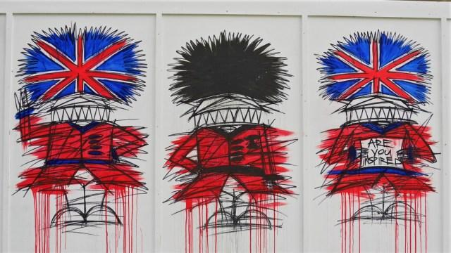 Union Jack street art Londres covent garden Arpenter le chemin