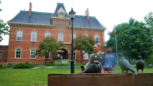 john Humphrey statue Hampton NB