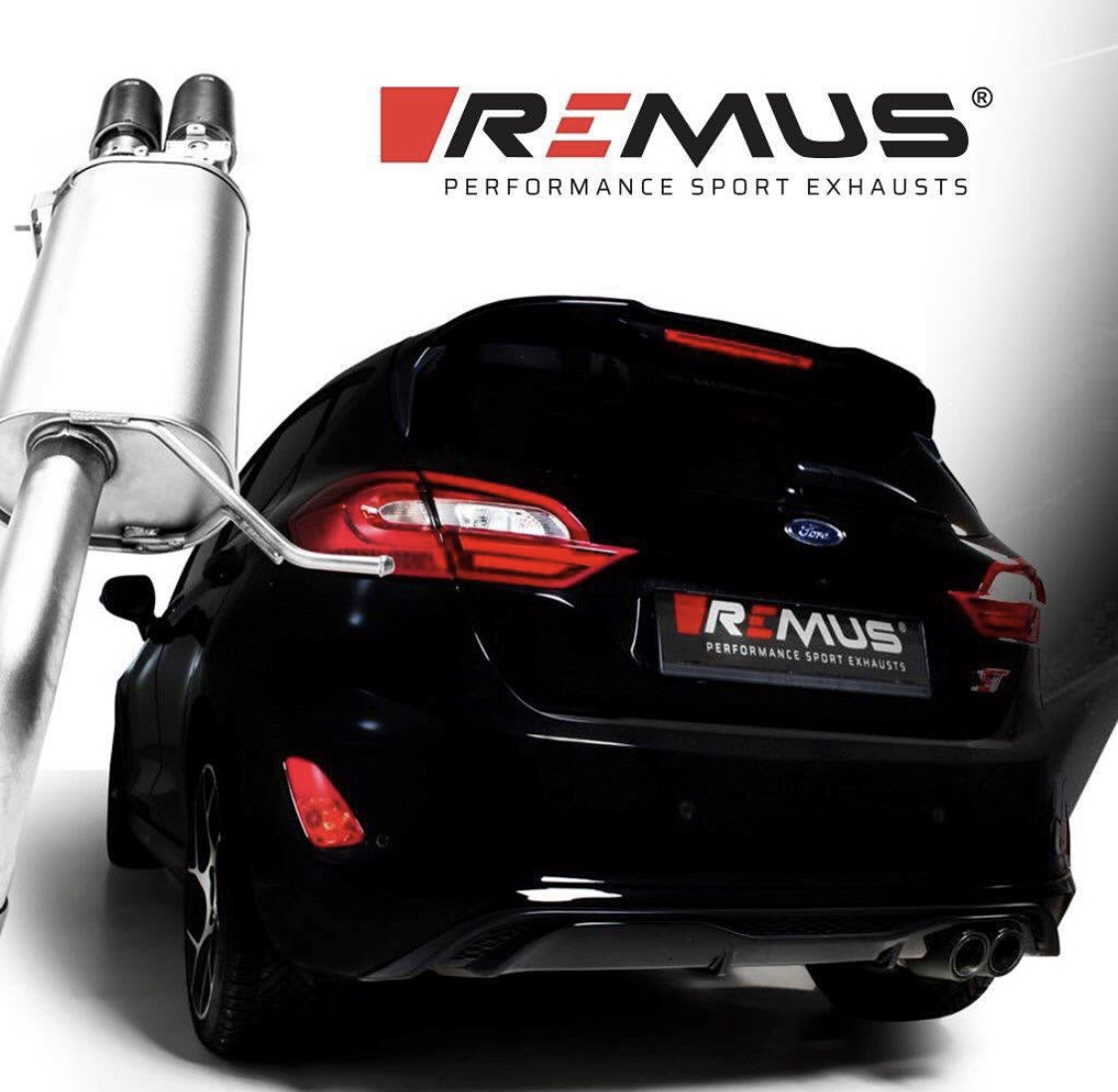remus axle back system ford fiesta st plus mk8
