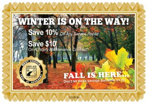 HVAC services discount coupon