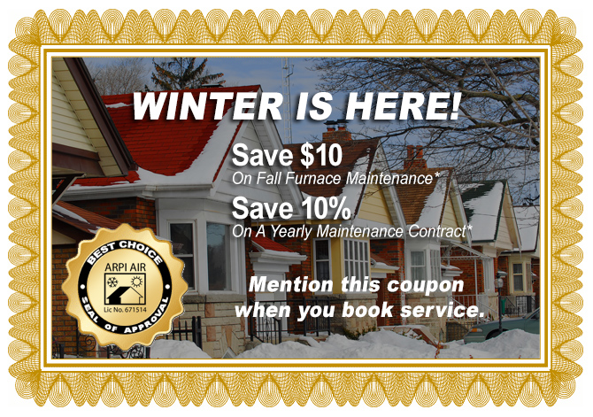 coupon for HVAC service discount