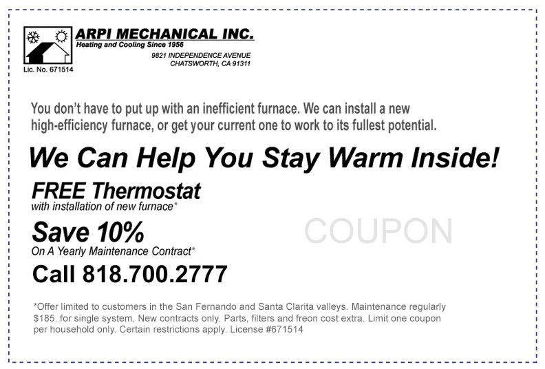 HVAC service savings coupon
