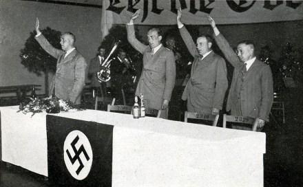 Gregor Strasser am 14. Juni 1932 in der Volkshalle in Gießen