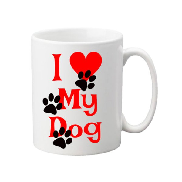 Keramična skodelica Love my dog