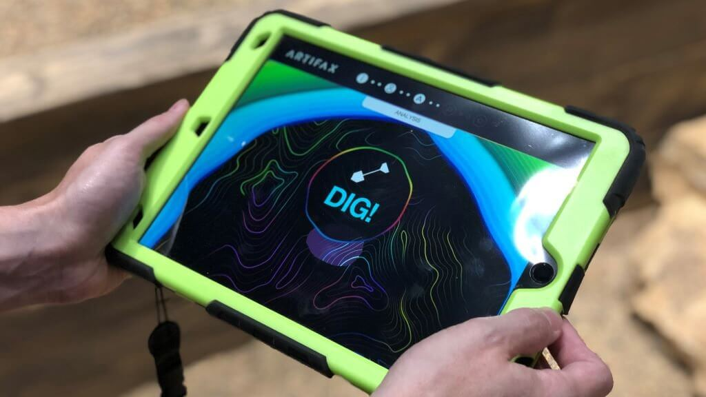 origins augmented reality experience dig