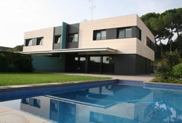 Arquitectura de casas con diseños unifamiliares
