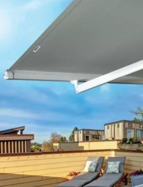 Tenda da sole per esterno, tenda da sole a bracci estensibili, realizzato in metallo e poliestere, impermeabile e resistente ai raggi uv , balcone, cortile,. Home Arquati