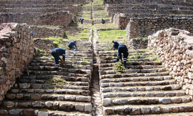 Qhapaq Ñan Project transfers maintenance works to Cusco DDCC Sites Administration