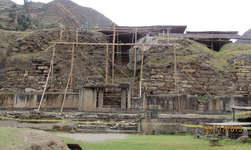 Realizan acción de emergencia en la Zona Arqueológica Monumental Chavín de Huántar