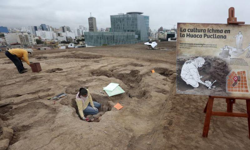 Descubren tumbas de la cultura Ychsma en la Huaca Pucllana