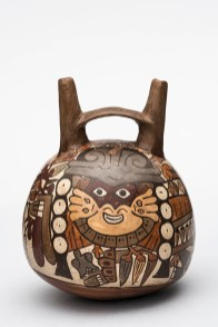 Botella Botella de cerámica de doble pico de la cultura nazca (200 a.C.-650 d.C.). Foto: Museo de Arte de Lima. Donación Memoria Prado