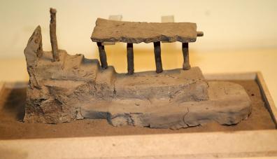 El recinto protocolar desenterrado solo era conocido por la iconografía plasmada en la cerámica de esta civilización. (Foto: Dante Piaggio)
