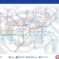 O mapa do metrô de Londres