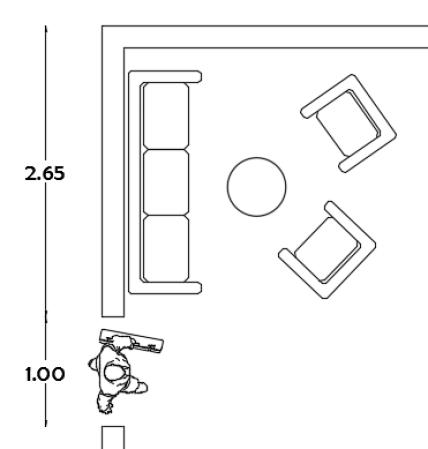 Dise o de salas tips de distribuci n y ubicaci n de tv for Espacios minimos arquitectura