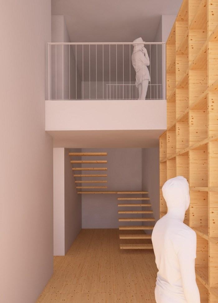 arquitectos-porto-desenho-bibilioteca-madeira-entrada-casa-arquitectura-vigo-arquitecto