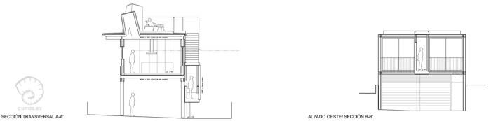 secciones-proyecto-planos-casa-domaio-moana-vigo-diseno-arquitecto-madera-acero-vidrio-elevada-pasarela