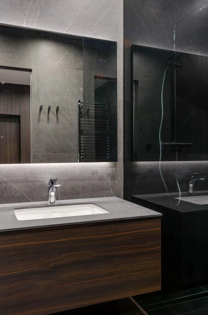 Diseño de muebles para baño pequeño