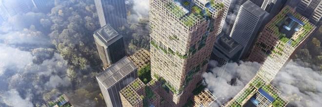 Japón construirá rascacielos de madera de 350 metros de alto para 2041
