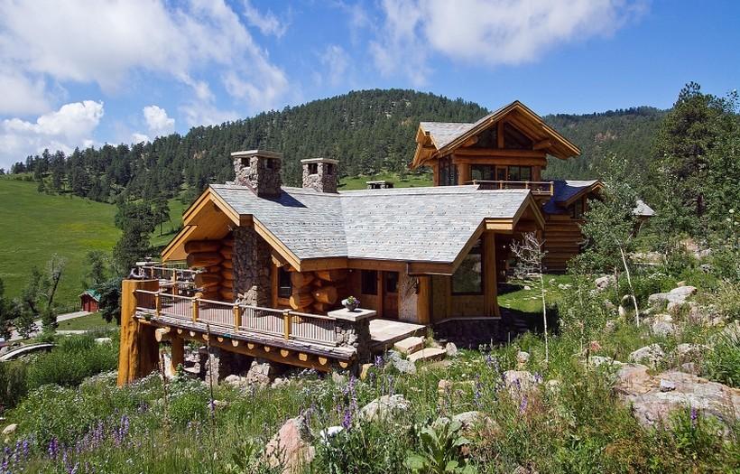 Casa de campo con unas impresionantes vistas de las Montaas Rocosas espectacular  Arquitectura Ideal