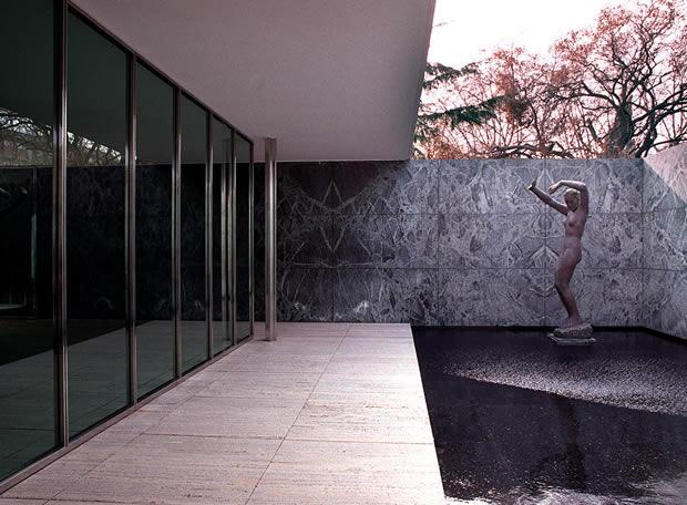 Pabellón alemán de Mies van der Rohe, en Montjüic, Barcelona