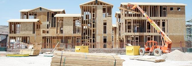 Vivienda en construcción en Las Vegas, EE.UU. | Afp