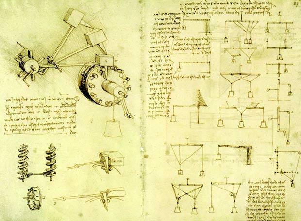 Los dibujos de Leonardo reflejan una peculiarísima visión del espacio