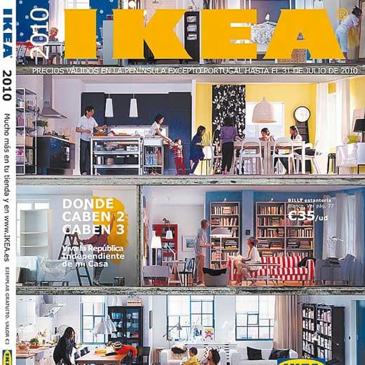 La tipografía Verdana en la portada del catálogo de Ikea de 2010